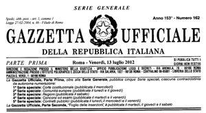 Decreto 13 luglio 2012