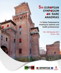 5° Simposio Europeo sulle Anemie Rare e 1° Incontro Nazionale Italiano sulla Thalassemia - 15/16 novembre 2013 - Locandina