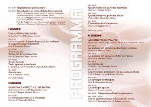 Drepanocitosi nell'adulto e nel bambino - Modena, 10 maggio 2014 - Pieghevole 2