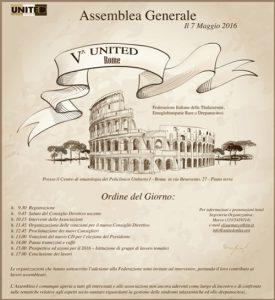 Assemblea Generale United - Roma, 7 maggio 2016