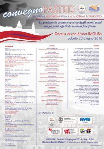 Convegno Fasted Ragusa, 25 giugno 2016