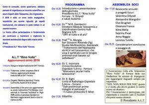 Assemblea Annuale A.L.T. Ferrara - Ferrara, 17 dicembre 2016 - Pieghevole 2