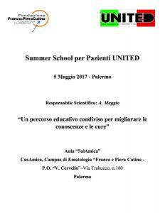 I° United Summer School per Pazienti - Palermo, 5 maggio 2017 - Programma 1
