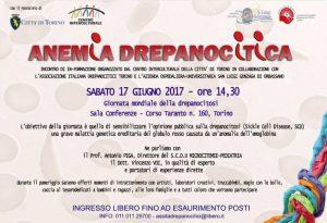 Anemia Drepanocitica - Torino, 17 giugno 2017 - Locandina