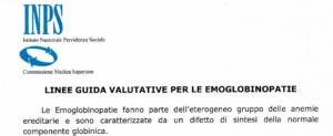 linee guida emoglobinopatie