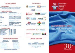 5° Convegno ATOG - Oggi... per un domani migliore - Catania, 14 novembre 2015 - Brochure 1