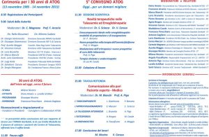 5° Convegno ATOG - Oggi... per un domani migliore - Catania, 14 novembre 2015 - Brochure 2