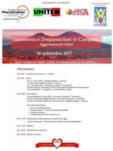 Talassemia e Drepanocitosi in Campania - Napoli, 30 settembre 2017 - Locandina