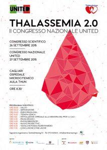 Congresso Nazionale United: Thalassemia 2.0 - Cagliari, 26/27 settembre 2015 - Locandina