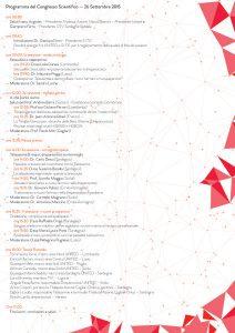 Congresso Nazionale United: Thalassemia 2.0 - Cagliari, 26/27 settembre 2015 - Programma Congresso Scientifico