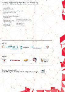 Congresso Nazionale United: Thalassemia 2.0 - Cagliari, 26/27 settembre 2015 - Programma Congresso Nazionale