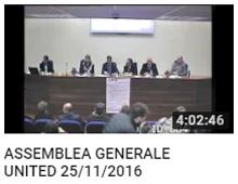 Assemblea Generale United del 25 novembre 2016