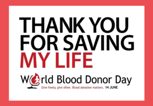 14 giugno - World Blood Donor Day